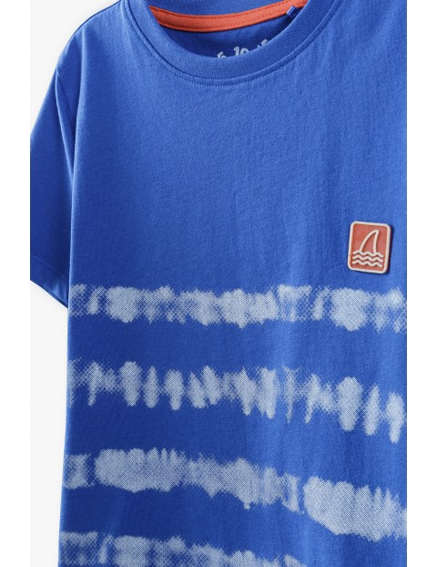T-shirt chłopięcy w kolorze granatowym z paskami-100% bawełna