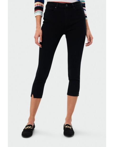 Czarne spodnie damskie - 3/4 nogawka