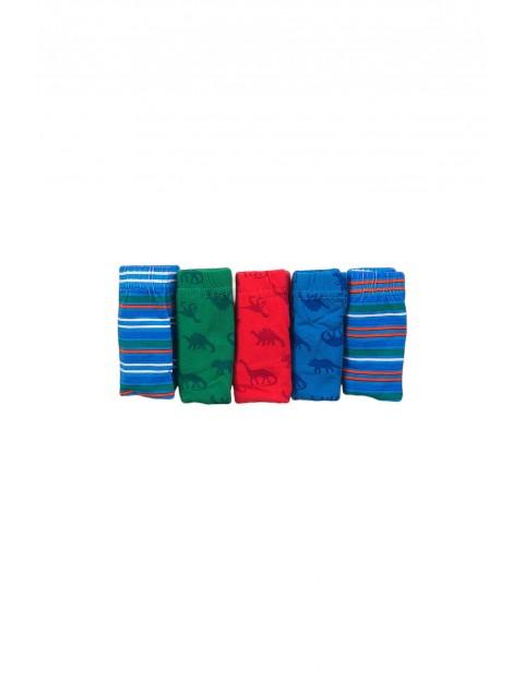 Majtki chłopięce kolorowe w dinozaury 5pak rozm 92/98