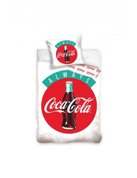 Komplet pościeli bawełnianej Coca-Cola 160x200+70x80 cm