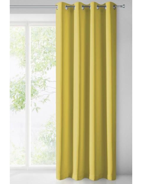 Zasłona jednokolorowa zaciemniająca - musztardowa - 135x250cm