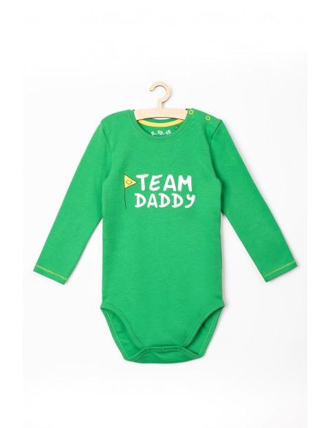 """Body niemowlęce bawełniane z napisem: """"Team Daddy"""""""