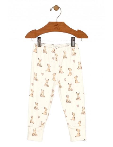 Spodnie niemowlęce dzianinowe w kangurki