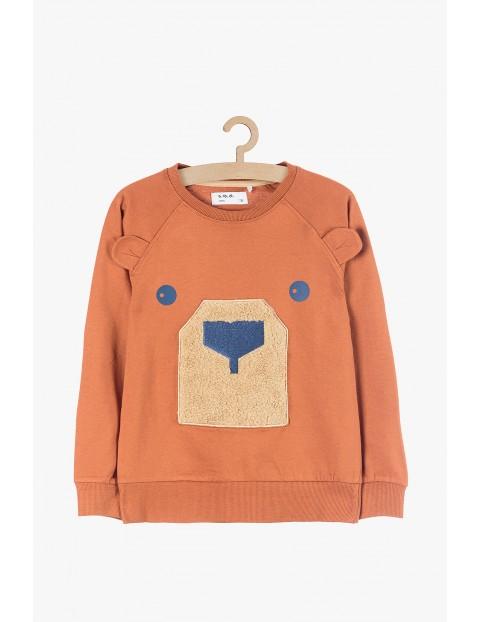 Bluza dresowa dla chłopca- brązowa Miś
