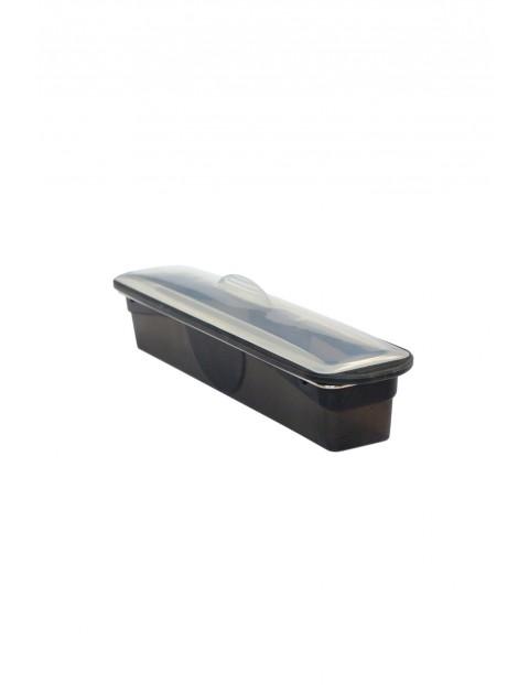 Podłużna silikonowa forma z pokrywą (keksówka) - grafitowy 37x4cm