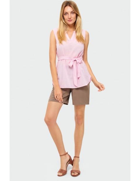 Różowa bluzka damska na grube ramiączka