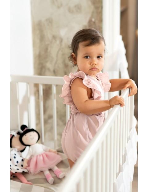Rampers niemowlęcy SWAN różowy