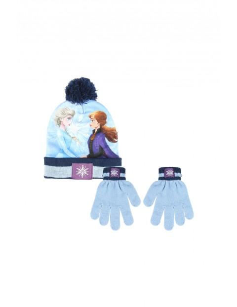 Komplet na zimę- czapka i rękawiczki Frozen