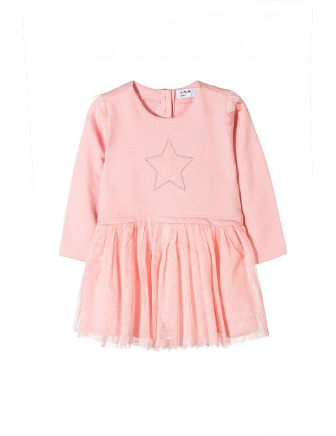 Sukienka niemowlęca różowa