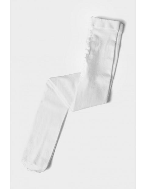 Rajstopy dziewczęce gładkie - białe