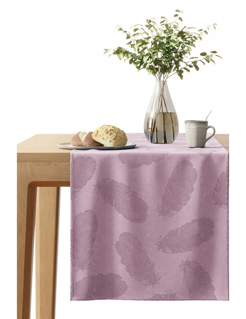 Bieżnik na stół Velvet pudrowy róż 40x140cm