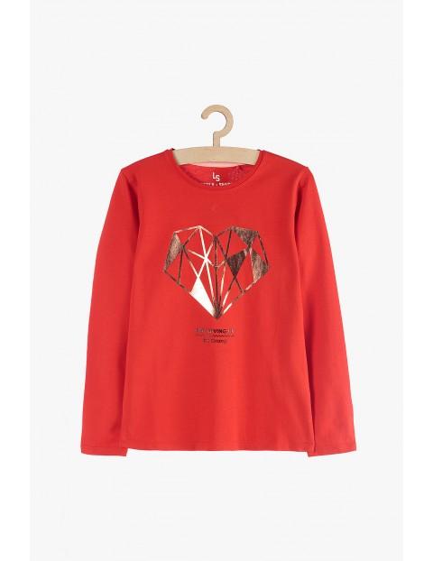 Bluzka dziewczęca czerwona- Serce
