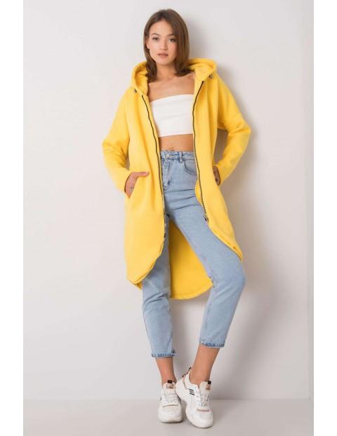RUE PARIS Długa bluza z kapturem - żółta