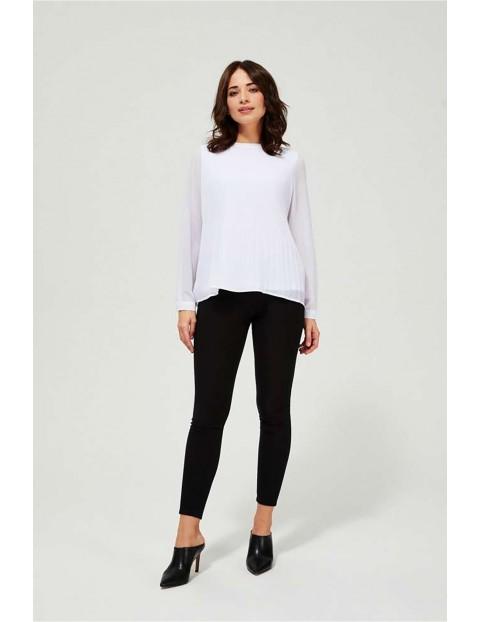 Koszula damska biała z plisami