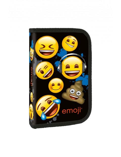 Piórnik Jednokomorowy bez wyposażenia  Emoji - czarny
