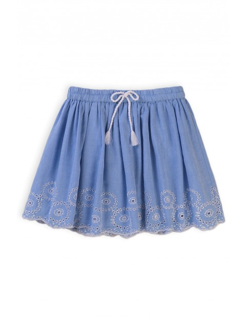 Bawełniana spódniczka dziewczęca z ozdobnym haftowanym wzorem