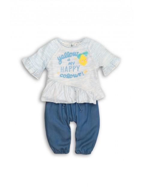 Komplet ubrań dla dziewczynki- bluzka i spodnie