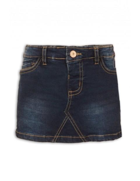 Spódnica jeansowa z przetarciami- granatowa