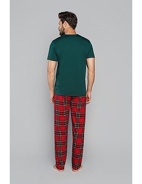 Bawełniana piżama męska z krótkim rękawem Italian Fashion