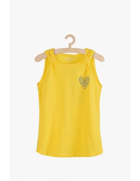 Bluzka dziewczęca na ramiączka żółta-100% bawełna