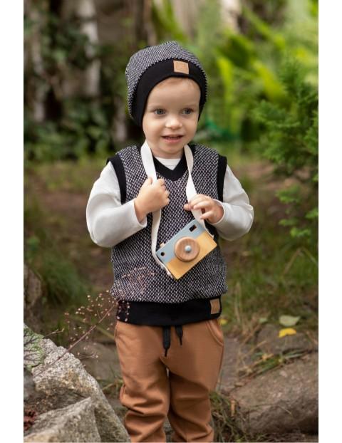 Bawełniane spodnie chłopięce - brązowe