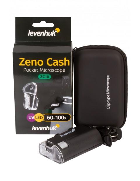 Mikroskop kieszonkowy Levenhuk Zeno Cash ZC10 - czarny