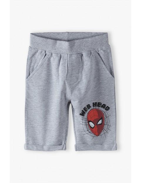 Spodenki chłopięce Spiderman - szare