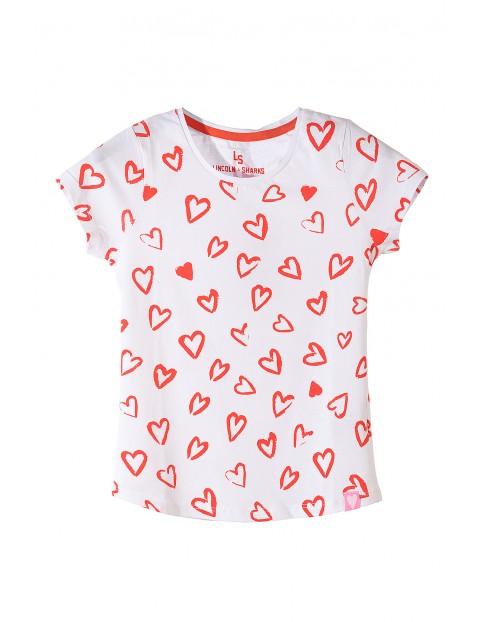 Koszulka dziewczęca bawełniana 4I3601