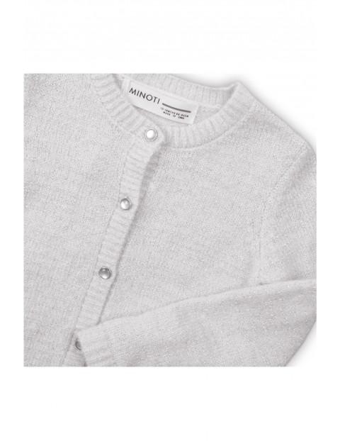 Sweter dziewczęcy zapinany na guziki