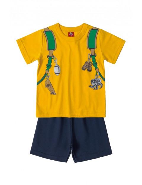 Komplet chłopięcy - t-shirt i spodenki dzianinowe