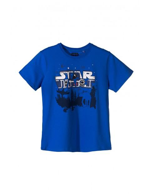 Koszulka chłopięca Star Wars niebieska