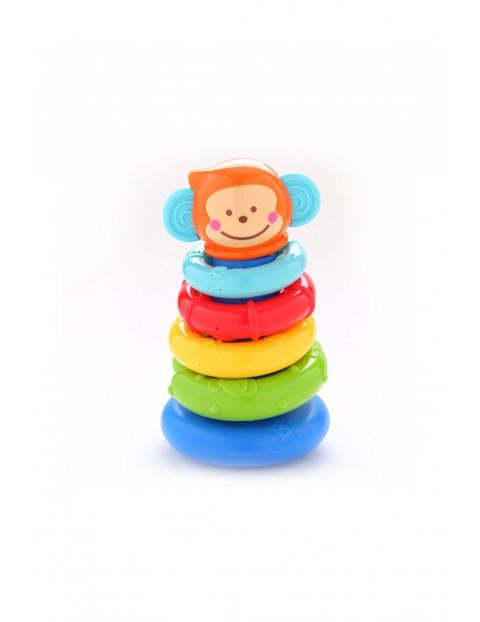 Piramidka Małpka kolorowe kółka 5O2908