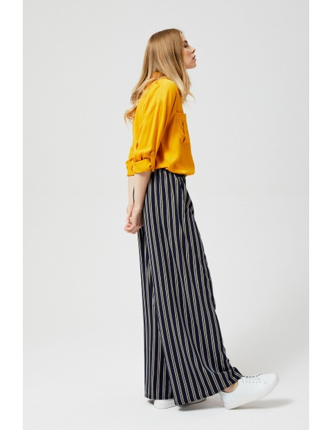 Szerokie spodnie damskie w paski