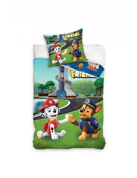 Pościel bawełna dla dziecka Psi Patrol 160x200+70x80 cm