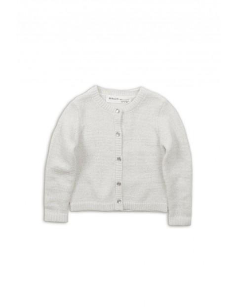Sweter dziewczęcy na guziki- szary