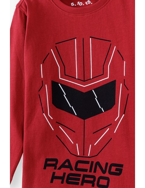 Bluzka chłopięca czerwona - Racing Hero