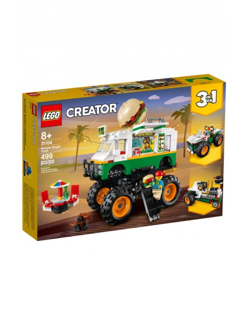 Lego Creator - Monster truck z burgerami - 499 elementy wiek 8+