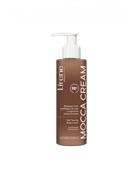 Lirene Mocca Cream Brązujacy krem nawilżający do ciała z organiczną wodą kokosową 190 ml