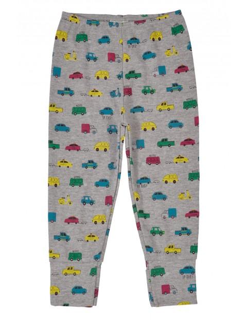 Spodnie niemowlęce dresowe- szare w kolorowe auta