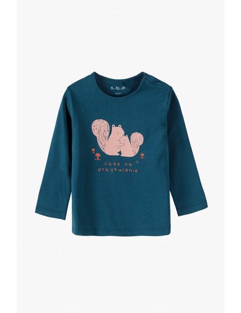 Dzianinowa bluzka z napisem- Czas na przytulanie