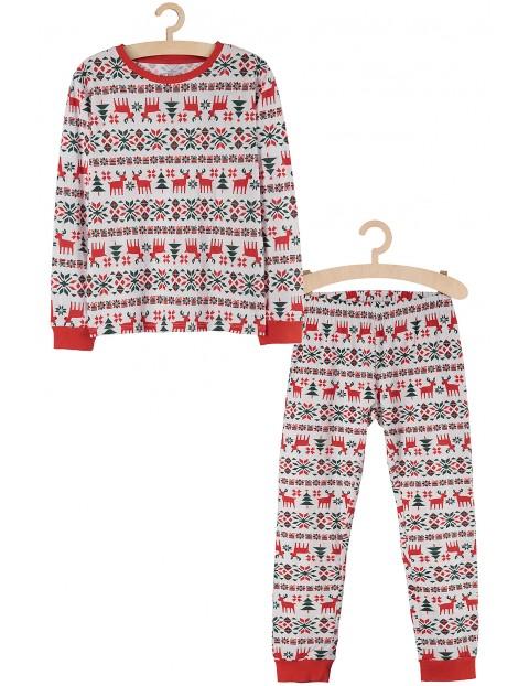Piżama dziewczęca w świąteczne wzory