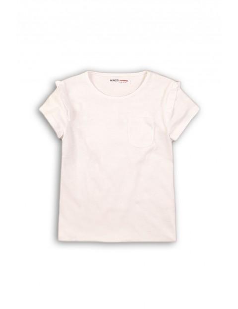 T-shirt niemowlęcy z kieszonką- biały