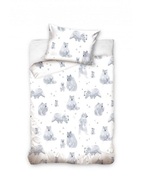Pościel bawełniana do łóżeczka Niedźwiedzie - 100x135 cm