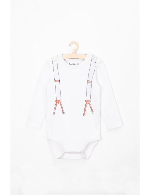Body niemowlęce bawełniane z szelkami