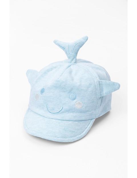 Czapka z daszkiem dla niemowlaka- rekin