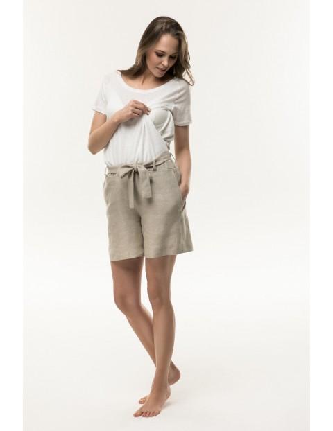 T-shirt ciążowy biały