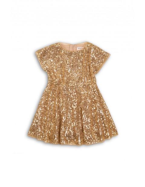 Sukienka dziewczęca na specjalne okazje- złote cekiny