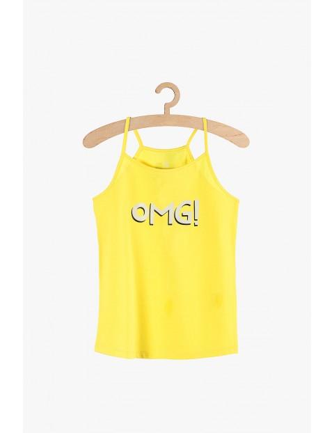 """Bluzka dziewczęca żółta """"OMG!"""""""