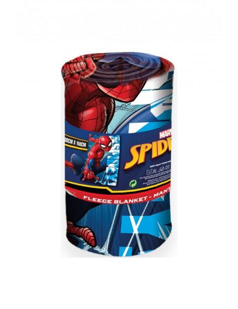 Koc polarowy z motywem Spiderman 100x150cm
