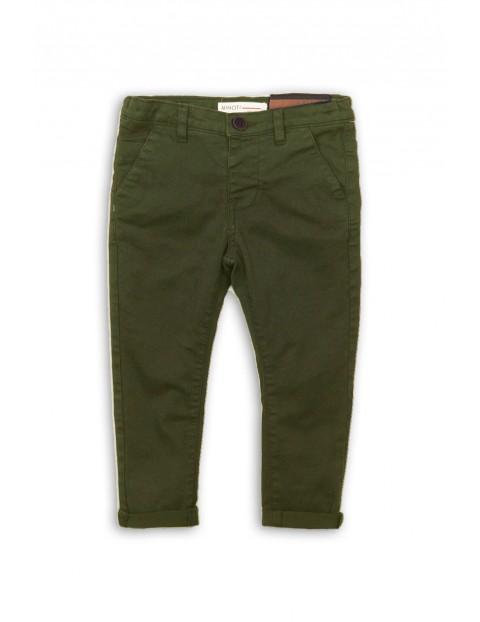 Chinosy chłopięce zielone-spodnie dla chłopca